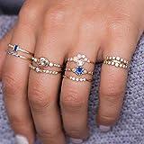 SanQ-Seven Boho Vintage Knuckle Anillos de Oro Conjunto, con...