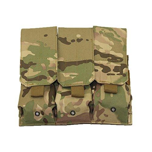 Magazin-Tasche für Molle-Weste, Jagd-Airsoft-Tasche, taktisches Outdoor-Zubehör, Triple AR15 M4, 5,56 mm, Pistole, Handfeuerwaffen, Schießweste, Herren Jungen unisex, CP -