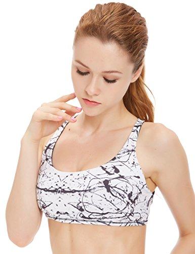 icyZone® Sexy Soutien-gorge Sport Push up Bra Lingerie Vest Avec Brassière Yoga Chinese Ink