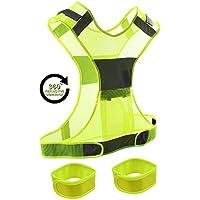 Reflektierende Sicherheits -Weste + 2 reflektierende Sicherheits-Armbänder mit Aufbewahrungs- Beutel