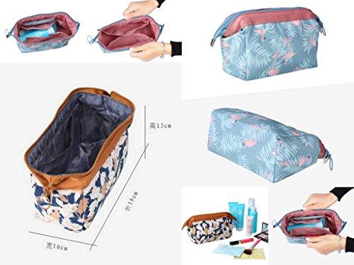 Smile YKK Organizer Aufbewahrungstasche Schminktasche Kulturbeutel Make Up Taschen Aufbewahrungsbox Make-up-Pinsel Braun Braun