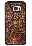 SMARTWOODS Aztec Calendar Dark Schützhülle für Samsung Galaxy S7 Edge, Holzcase für Smartphone, Handyhülle, Schutzhülle aus Holz für Samsung, ökologisch, naturnah und original