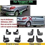 RAISSER® Mud Flaps for Peugeot 206 301 307 308 408 2008 3008 Mk1 Mk2 Mudflaps Splash Guards Mudguards Fender Sedan Saloon Hatchback
