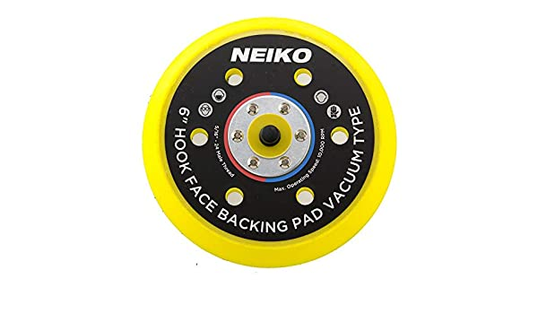 Neiko 30265A Velcro Face Sanding Pad 6-inch Multi-hole Vacuum Type for Dual Action Orbital Air Sander