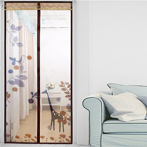 Türen mit magneten bildschirm,Türen für häuser bildschirm Velcro magnetische tür siebgewebe Der moskito Tür vorhang Magnetisch Hohe denisity Abgeschnitten Schlafzimmer Bildschirm-I 70x200cm(28x79inch)