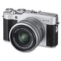 فوجي فيلم X-A5 كاميرا رقمية بدون مرأة - 24 ميجابكسل مع عدسة XC 15-45mm F3.5-5.6 OIS PZ، اسود