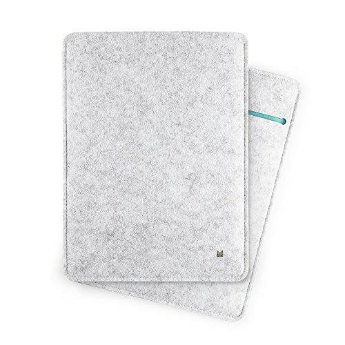 "FORMGUT Tablet Tasche für iPad Pro 10,5"", Schutzhülle aus Filz - Hellgrau Türkis"