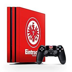 DeinDesign Skin kompatibel mit Sony Playstation 4 PS4 Pro Aufkleber Folie Sticker Eintracht Frankfurt Offizielles Lizenzprodukt SGE