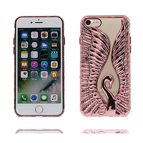 iPhone 6s Custodia, Fashion Silicone trasparente morbido Cover Shell per iPhone 6s Copertura / Cute 3D Metallo Oca Nero / iPhone 6 / 6S Case 4.7 Anti shock Durable color 1