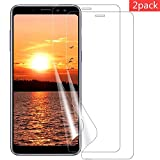 VICKSONGS Schutzfolie für Samsung Galaxy A6/A8 2018,2 Stück HD-Klar Displayschutzfolie Soft Displayschutz Folie[Bubble-frei][Anti-Fingerabdruck] Display Schutz für Samsung Galaxy A6/A8 2018