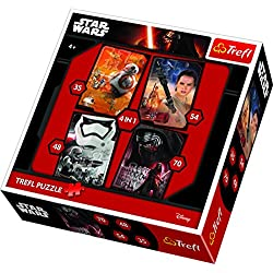 Trefl - Star Wars: The Force Awakens - Puzzles 4 en 1 - 35, 54, 48, 70 Pièces