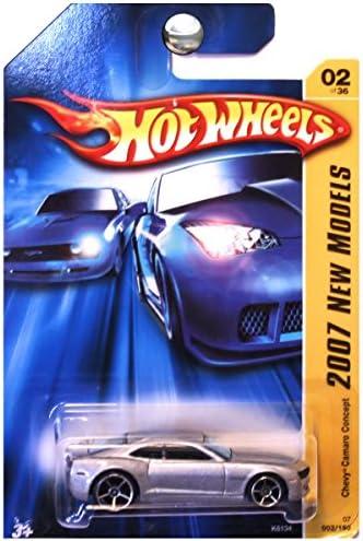 2007 New Models 2 Chevy Camaro Concept Silver Chrome Base 2007-2 Collectible Collector Car Mattel Hot Wheels 1:64 Scale Collectible Die Cast Car by Hot Wheels | Dernière Arrivée