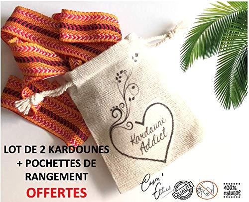 Lot de 2 Kardounes Authentique d'Algérie (3M) Cosm'Ethics® + Fiche tutoriel + 2 Pochettes de rangement en coton naturel OFFERTES
