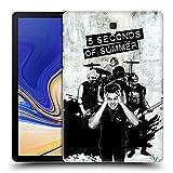 Head Case Designs Offizielle 5 Seconds of Summer Laut Grau Gruppenbild Montage Ruckseite Hülle für Samsung Galaxy Tab S4 10.5 (2018)