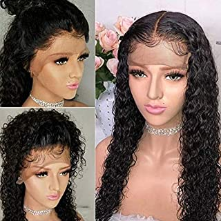Maxine Human Hair 360 Lace Frontal Wig For Black Women 180% Density 9a Grade Brazilian Curly Virgin Human Hair 360 Lace Wigs Curly Wave Glueless Lace Wig 16Inch