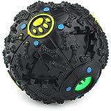 Magic Zone Más Inteligente Interactivo IQ Tratar Ball Dog Toys Ball, 4,7 pulgadas, Negro