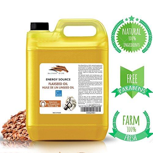 Leinöl Futteröl Pferde Hunde 100% natürliches sorgt für ein glänzendes Fell fördert die Verdauung (1000 ml)