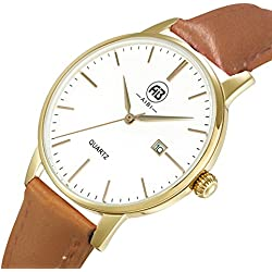 AIBI Ladies Waterproof Gold Bezel Analogue Display Quartz Wrist Watch with Date Function