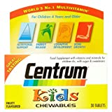 Centrum Kids Fruity Chewables Multivitamins, 30 Tablets from Pfizer Consumer Healthcare