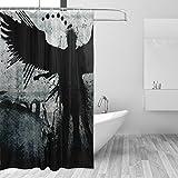 COOSUN Dunkler Kunstdruck Duschvorhang, Polyester-Gewebe Duschvorhang, 66 x 72-inch 66x72 Mehrfarbig