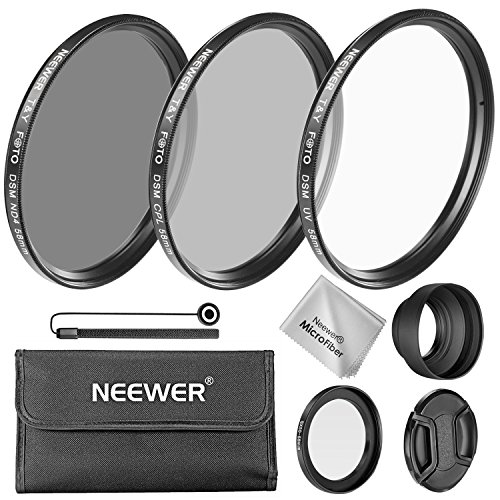 Neewer T&Y FOTO 58MM Camera Lens Filter Kit for Canon PowerShot SX60 HS and SX530 HS  available at amazon for Rs.3445