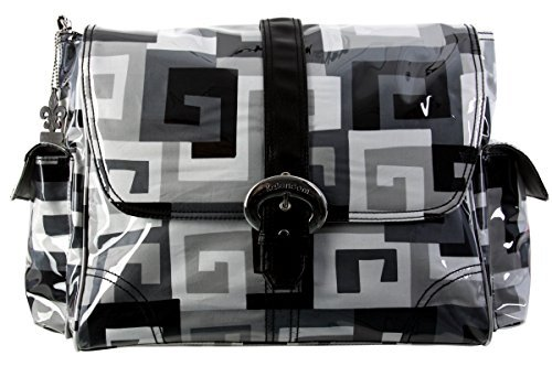 kalencom-matte-coated-buckle-bag-maze-black-white-by-kalencom