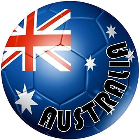 Auto adesivo autocolant moto calcio Nike-Pallone da calcio, motivo: bandiera dell'australia