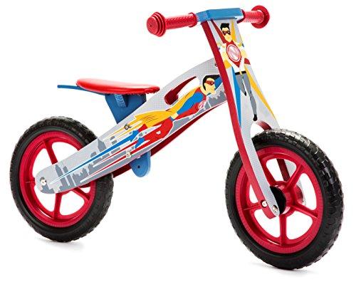 Nicko - Bicicleta de Equilibrio Infantil de Madera, para Correr o Montar en Bicicleta (Superhéroe 864)