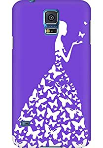 AMEZ designer printed 3d premium high quality back case cover for Samsung Galaxy S5 (purple white girl princess)