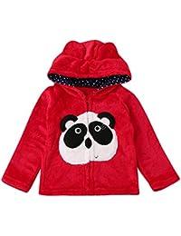 Covermason Bebé Niñas y Niños Lindo Animal Impresión Encapuchado Abrigos Otoño Invierno Espesor Chaqueta para 0-5 Años