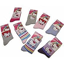 10da64b4247de HELLO KITTY Lot de 3 paires Chaussettes Enfants Fille Licence Sanrio