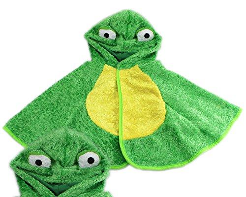 Frosch Kostüm Froschkönig Frosch Cap Frosch Kinderfasching Überwurf weicher Stoff Grün 2-6 Jahre