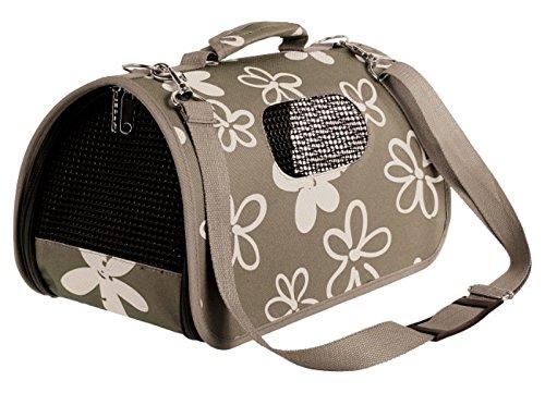 Katzentasche Hundetasche FLOWER Braun Größe L 26x50x28cm