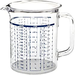 Emsa Superline - Jarra medidora de 1,5 l, transparente