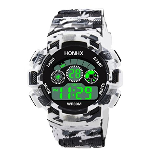squarex Uhren für Männer Luxus Herren Analog Digital Military Army Sport LED Wasserdicht Armbanduhr, Damen, a, AS Show
