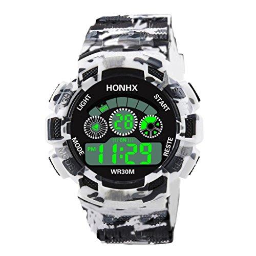 squarex Uhren für Männer Verkauf Luxus Herren Analog Digital Military Army Sport LED Wasserdicht Armbanduhr, Damen, a, AS Show