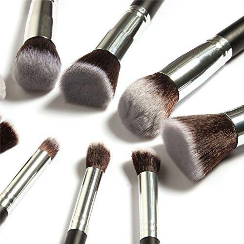 10 pcs Kabuki Style professionnel Make Up Brosse de fond de teint Fard à joues Poudre Visage