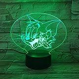Cartoon Mickey Mouse 3D Lampe Farben Ändern Nachtlicht V Usb Tischlampe Nachtstimmung Licht Für Kinder Lava Lampe Drop Shipping
