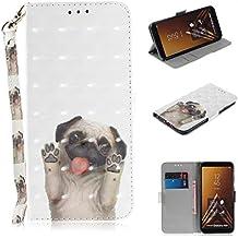 Samsung Galaxy A6 Plus 2018 (6.0 Zoll) Handyhülle [Premium Leder] [Standfunktion] [Kartenfach] [Magnetverschluss] 3D Schlanke Leder Brieftasche für Samsung Galaxy A6 Plus 2018