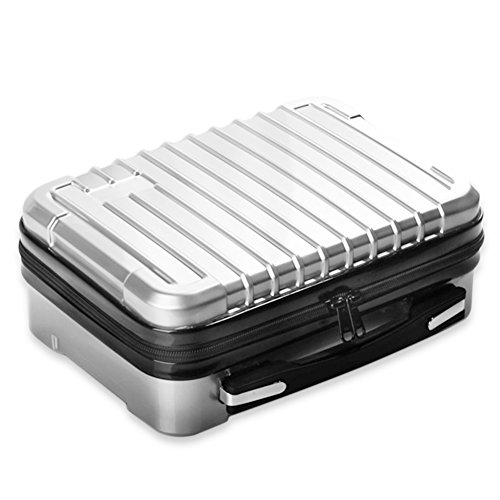 Colinsa Aluminiumbox Portable kleine Aufbewahrungsbox Schwamm Futter Handheld Organizer Aluminium Koffer Tool Box (Silber) (Aluminium-tool-box)