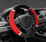 #9: NIKAVI Silk Steering Wheel Cover (RED)