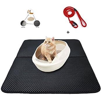 Tapis Double-couche pour Bac à Litières pour chats Matelas Pet Gamelle pour chiens et chats(1 Ceinture de sécurité Comme cadeau)