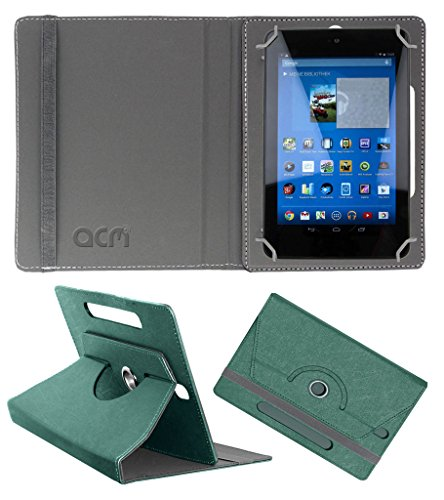 Acm Designer Rotating Leather Flip Case for Dell Venue 7 3740 Cover Stand Turquoise  available at amazon for Rs.169
