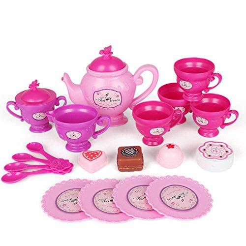 Teeservice Kind, Vicoki 19 Teile Tee Set Spielzeug Kaffeeservice Kunststoff Rollenspiele...