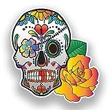 2x Pegatinas de vinilo de calavera México Festival día de los muertos # 7383