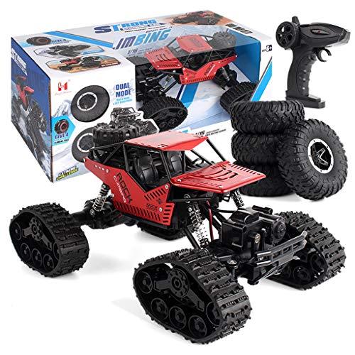 RC Auto Ferngesteuert Fahrzeug 1/16 4WD Monster Truck Alloy Track Offroad Kletterwagen Desert Buggy Racing RTR Mit 2 x 1.5V AA Battery akku für Kinder und Erwachsene (Rot)