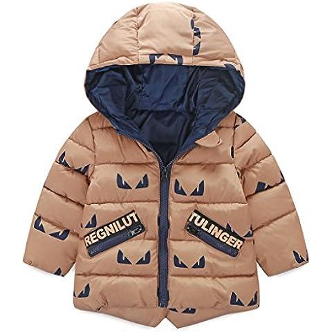 Vine Bambino Giacche Hoodie Capispalla Ragazze Inverno Outfits con Cappuccio Ragazzi Leggero Vestiti dei Bambini