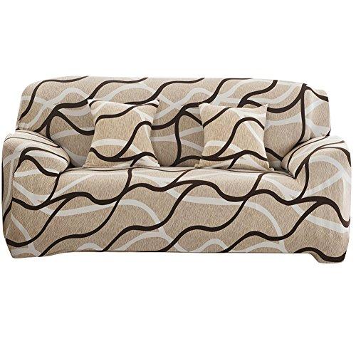 Everpert Housse pour Salon Canapé Slipcover Big élastique Imprimé Housse de canapé, C, 190-230cm, C, 190-230cm