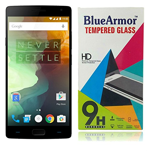 BlueArmor HD Clear Tempered Glass Screen Guard Protector for OnePlus 2 One Plus Two (Pack of One) + Solitaire Crystals Touch Stylus