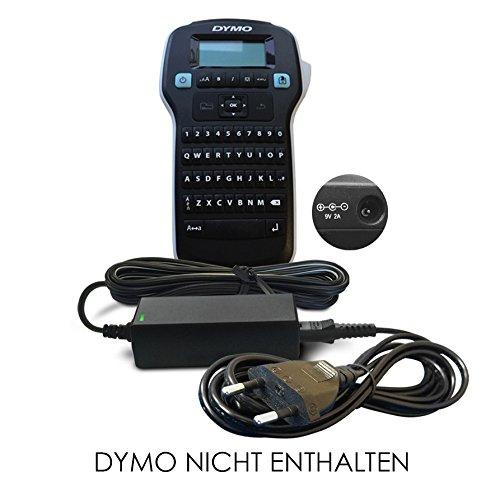 Ersatz Dymo DC 9V / 9 V Volt Netzteil, Netzadapter, Netzanschluss für Dymo Tragbares Beschriftungsgerät/Etikettendrucker / Label Printer/Label Manager/LetraTag / Labelpoint/Rhino / Label Maker